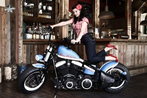 Harley Davidson Night Train Softail  Chick Bike